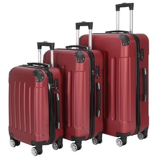 Link to Large Capacity Traveling Storage Suitcase Trolley Case Luggage Set of 3 Similar Items in Luggage Sets