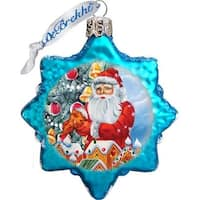 GDeBrekht 773012 Santas Gingerbread House Glass Ornament