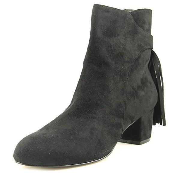 Chelsea & Zoe Mackenzie Women Round Toe Synthetic Black Ankle Boot