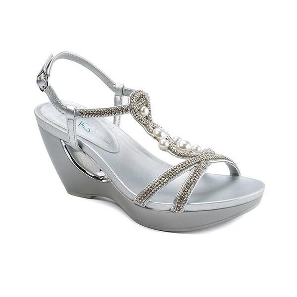 Andrew Geller ALLISANDRA Women's Sandals & Flip Flops Silver