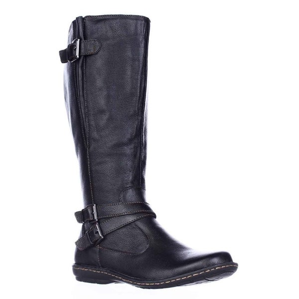 B.O.C. Born Concept Barbana Wide Calf Riding Boots, Black