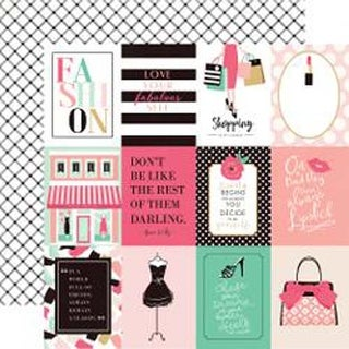 """3""""X4"""" Journaling Cards - Fashionista Double-Sided Cardstock 12""""X12"""""""