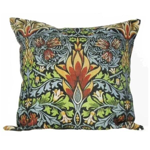"""William Morris Antique Pineapple Design Decorative Accent Throw Pillow Cover 18"""""""