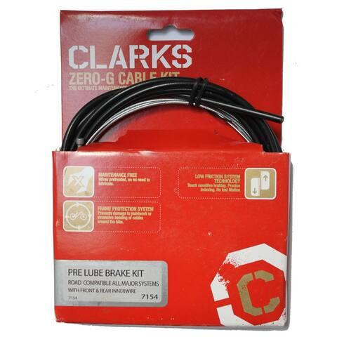 Cable brake kit road fr&rr blk clarks gold-level