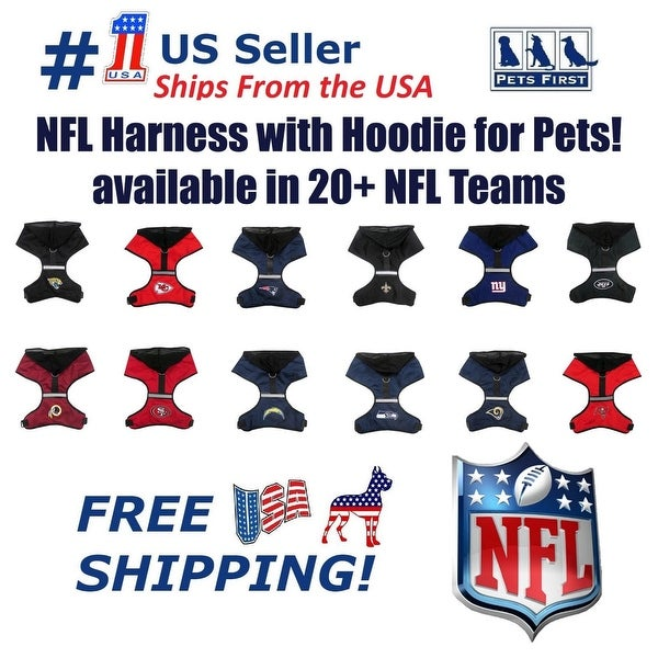 9f08d3a35a2 Shop NFL Harness with Hood for Dogs & Cats with Reflective strip ...
