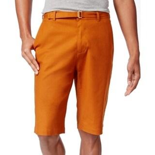 Sean John NEW Sugar Almond Brown Mens Size 30 Belted Long Shorts