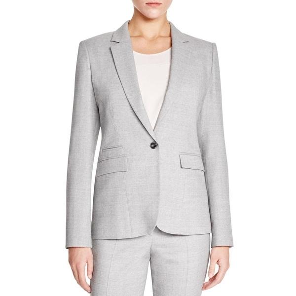 e362de108 Shop BOSS Hugo Boss Womens Jeshina One-Button Blazer Wool Heathered - Free  Shipping Today - Overstock - 16696186