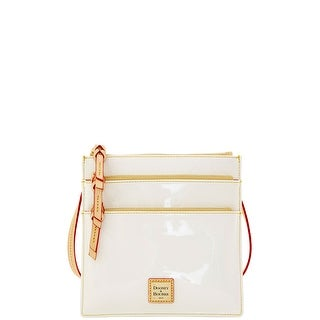 Dooney & Bourke Patent North South Triple Zip (Introduced by Dooney & Bourke at $148 in Mar 2016) - White