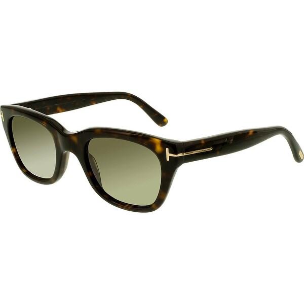 f06651ff9c Shop Tom Ford Men s Snowdon FT0237-52N-50 Brown Square Sunglasses ...