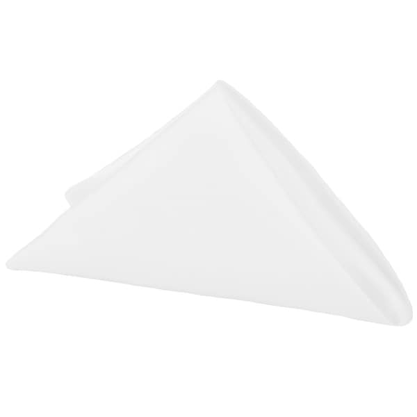 "50 Pieces, Lamour Satin Napkin Approx. 20""x20"" square Edge: Hemmed - White"