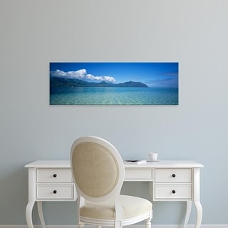 Easy Art Prints Panoramic Images's 'Clouds over an island, Kaneohe, Oahu, Hawaii, USA' Premium Canvas Art