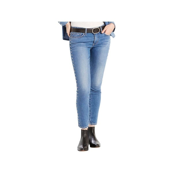 85f32279 Shop Levi's Womens 711 Skinny Jeans Mid-Rise Studded - Free Shipping On  Orders Over $45 - Overstock - 22926113