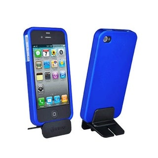 Griffin iPhone 4 Soft touch Hard Snap On Case with Stand - Blue (Bulk Packaging)