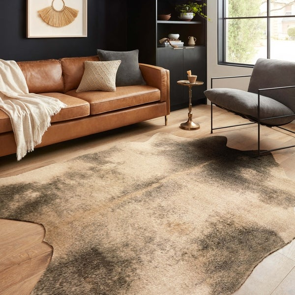 Alexander Home Faux Cowhide Area Rug. Opens flyout.