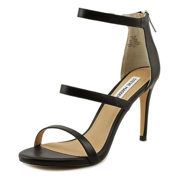 Steve Madden Feelya Women  Open Toe Synthetic Black Sandals