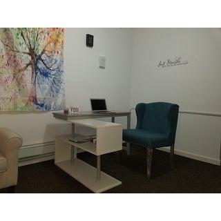 Simple Living Webster White/Grey Wood Swing Desk