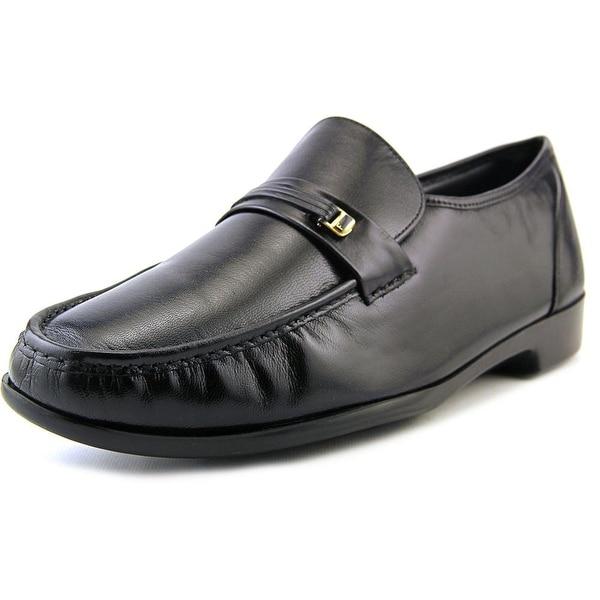 Florsheim Riva Men Moc Toe Leather Black Loafer