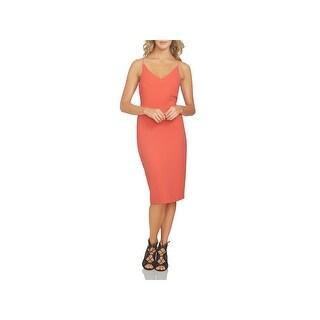 1.State Womens Slip Dress Adjustable Straps Double V (Option: 8 - poppy petal)
