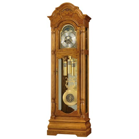 Howard Miller Scarborough 82nd Anniversary Classic Grandfather Clock Style Standing Clock with Pendulum and Movements