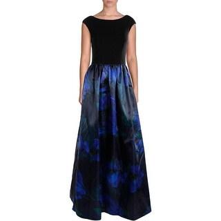 Aidan Mattox Womens Satin Prom Evening Dress