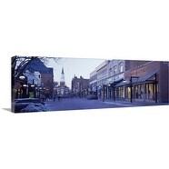 Premium Thick-Wrap Canvas entitled Church Street Burlington VT
