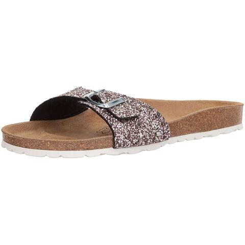 Bayton Womens Zephyr Open Toe Casual Slide Sandals