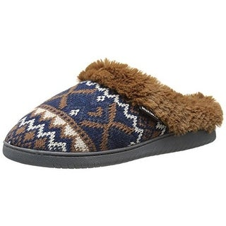 Muk Luks Womens Nordic Mule Knit Lined Clog Slippers - S