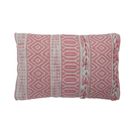 Amelia Woven Outdoor Pillow 12 in. x 20 in.