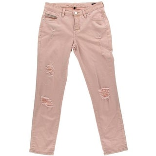 Jag Jeans Womens Straight Leg Jeans Colored Distressed