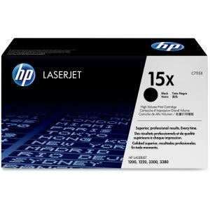 HP 15X High Yield Black Original LaserJet Toner Cartridge (C7115X) (Single Pack)