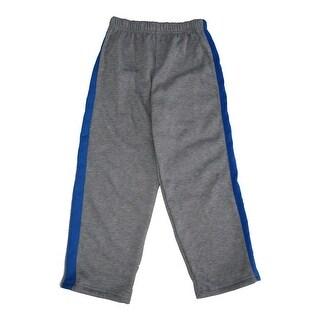 Marvels Little Boys Grey Royal Blue Side Stripe Superman Sweat Pants 4-7