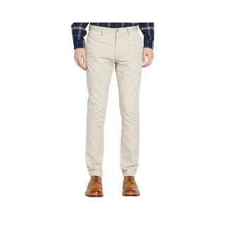 Polo Ralph Lauren Slim Fit Flat Front Chinos Pants Stone Beige