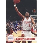 Danny Manning Los Angeles Clippers 1993 Hoops Autographed Card This item comes with a certificate