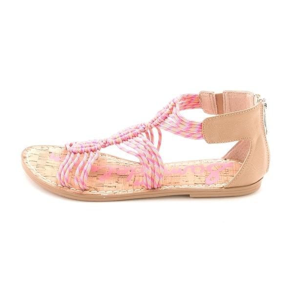 Sam Edelman Womens GRACE Canvas Open Toe Casual Strappy Sandals - 4