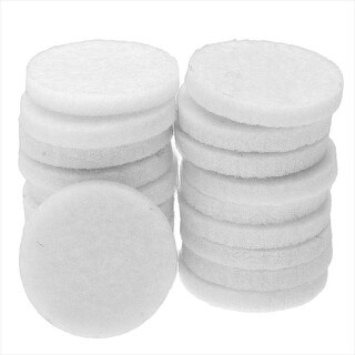 Aromatherapy Fiber Fragrance Pads for Essential Oil, Coin Shape 22mm, 20 Pieces, White