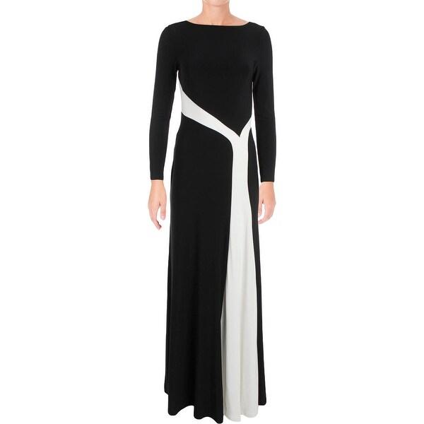 61ab2427f0f Lauren Ralph Lauren Womens Nedra Evening Dress Long Sleeves Full-Length