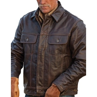 StS Ranchwear Western Jacket Mens Leather Maverick Brown STS5373