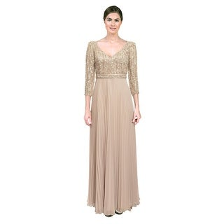 Alberto Makali Empire Sequin Beaded Formal Evening Gown Dress - 8