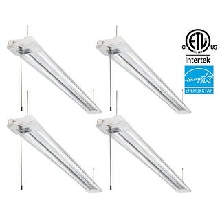 1-PACK/4-PACK 40W LED Utility Shop Light,4000lm,4000K Cool White/5000K Daylight Ceiling Light Pull Cord Switch