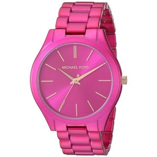 Link to Michael Kors Women's MK4414 Slim Runway Pink Stainless Steel Watch - One Size Similar Items in Women's Watches