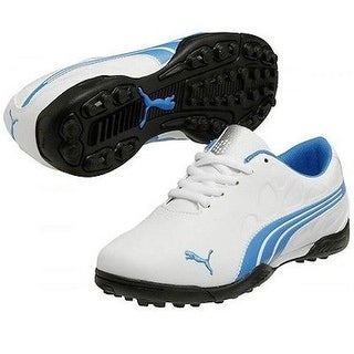 Puma Junior's Biofusion White/ Blue Golf Shoes 187102-02