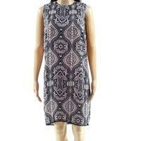 Dorothy Perkins Navy Blue Pink Womens Size 8 Printed Sheath Dress