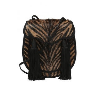 Saint Laurent YSL Bag Opium 2 Pony Hair Brown Zebra Striped Handbag 438337