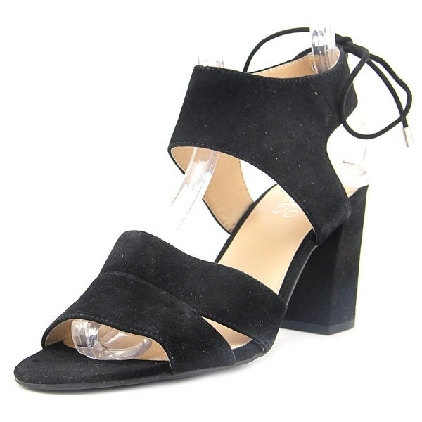 Franco Sarto Ginko Women Open Toe Suede Black Sandals