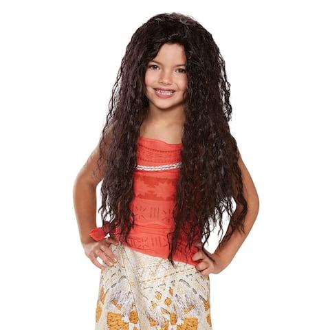 Girls Deluxe Moana Disney Costume Wig - Standard - One Size
