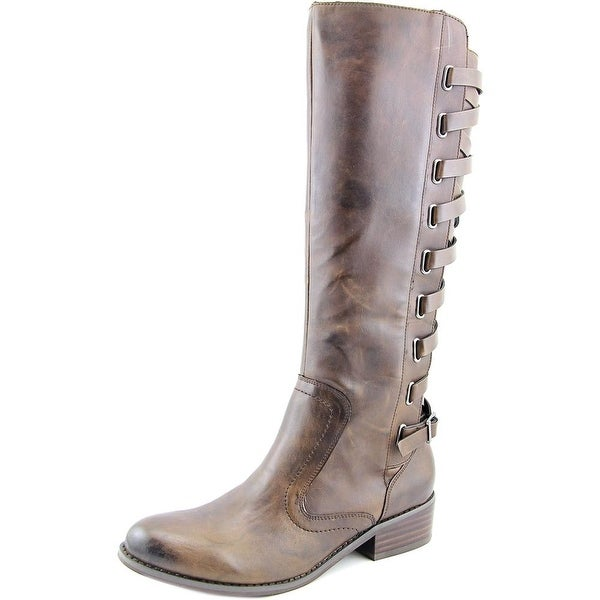 Carlos by Carlos Santana Lorenza Women Round Toe Synthetic Brown Knee High Boot