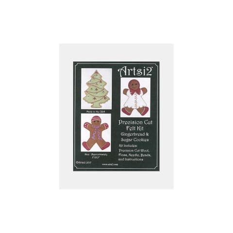 Artsi2 PC Wool Felt Kit Gngrbrd & Sugar Cookies