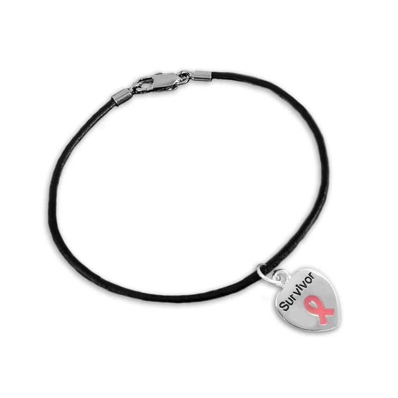 Madonna with Heart Charm Bangle Bracelet 7 1//2 Inch