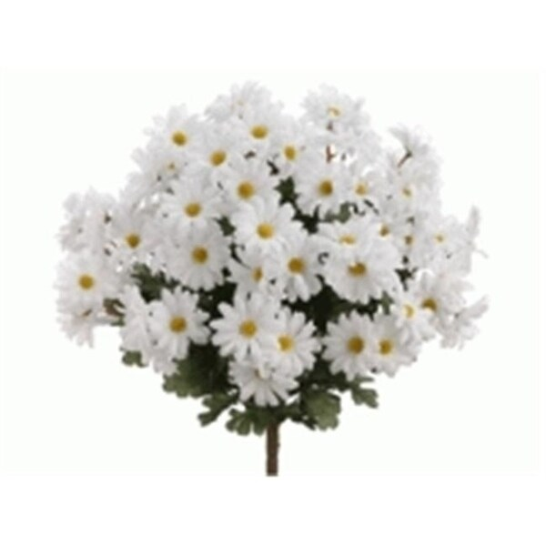 FBD951-WH 19 in. White Daisy Bush- Case of 12