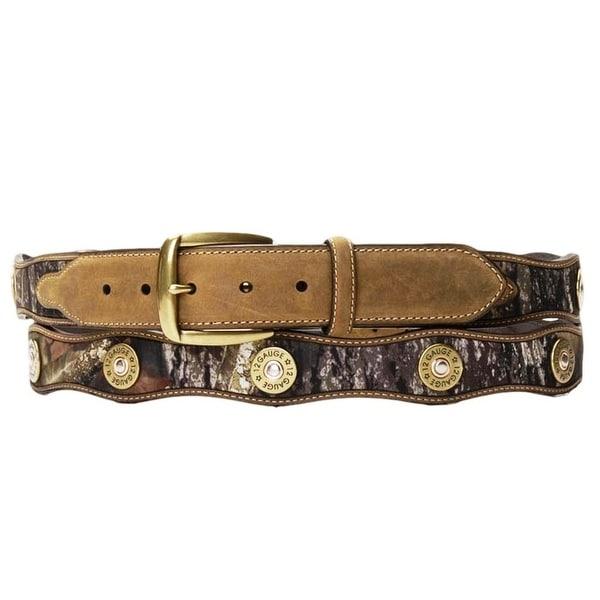 Nocona Western Belt Mens Leather Shotgun Shell Camo